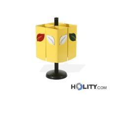 Pfosten-Abfallbehälter für die Mülltrennung h140170
