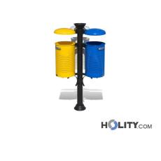 Pfosten-Abfallbehälter für die Mülltrennung  h140171