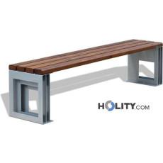Sitzbank aus Metall und Holz h140179