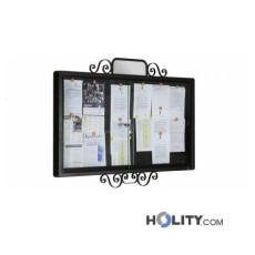 Werbe-/Infotafel aus Metall zur Wandbefestigung h140208