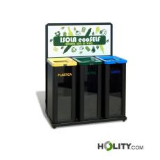 Abfallbehälter für die Mülltrennung h140250
