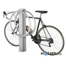Vertikaler Fahrradständer aus verzinktem Stahl h140256