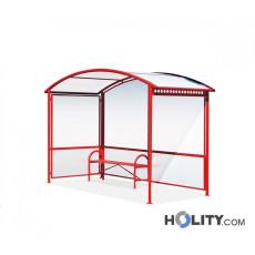 Überdachung Bushaltestelle mit Sitzbank h140257