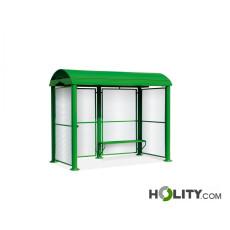 Überdachung Bushaltestelle mit Sitzbank h140259