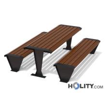 Picknick Tisch mit Bänken für Park h140271