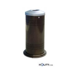 Runder Abfallbehälter zur Mülltrennung h140281