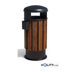 Abfalleimer aus Holz h140285