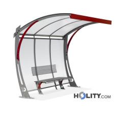 Überdachung Bushaltestelle mit Überhang h140293