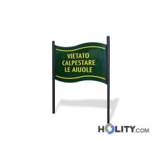 Zweiseitige und vertikale Anzeigetafel als Stadtmobiliar h140_305