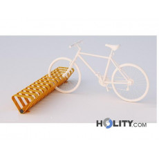 Zweiseitiger Fahrradständer für öffentliche Räume. Modernes Design  h140-307