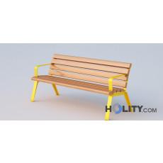 Sitzbank als Stadtmobiliar mit Rückenlehne h140_322