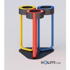Anti-Terror Abfallbehälter für die Mülltrennung h140_334