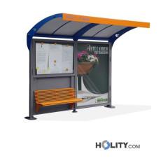 Überdachung Bushaltestelle mit Werbetafel h140_347