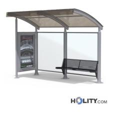 Überdachung Bushaltestelle mit Werbetafel h140_348