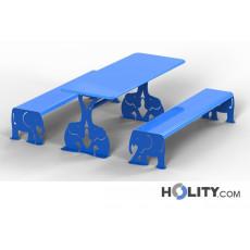Picknicktisch mit Bänken für Parkanlagen h140_363