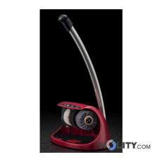 Lucidascarpe automatico con 3 spazzole e dispenser lucido h14206