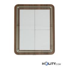 Speisekartenhalterung aus Holz mit Metallrahmen h148_140