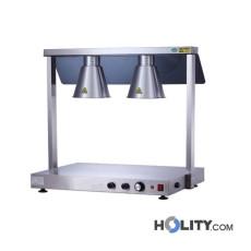 Warmhalteplatte mit 2 Infrarot-Lampen h15226