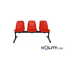 Feuerfeste Sitzbank aus Kunststoff 3 Plätze h15915