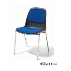 Stapelstuhl mit Sitzpolster h15942