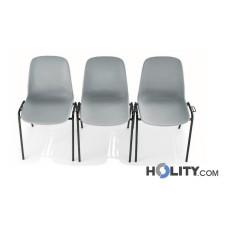 Stapelbarer Konferenzstuhl mit Reihenverbindern h15966