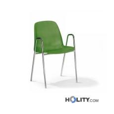 Stapelbarer Konferenzstuhl mit Armlehne h15967