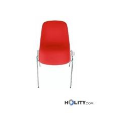 Feuerfester Konferenzstuhl mit Reihenverbinder h15969