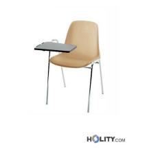 Stapelbarer und feuerfester Konferenzstuhl mit Schreibplatte h15971