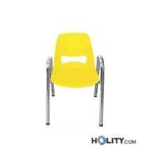 Stapelbarer, feuerfester Konferenzstuhl mit Armlehnen h15973