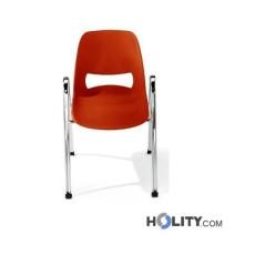 Stapelbarer, feuerfester Konferenzstuhl mit Armlehnen h15979