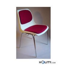 Konferenzstuhl mit Sitzpolsterung h17704