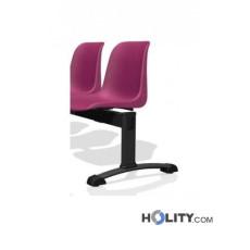 Sitzbank für Wartesaal mit 2 Plätzen h17711