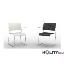 Stapelbarer Konferenzstuhl mit Armlehnen h17724