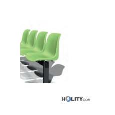 Sitzbank für Wartesaal mit 4 Plätzen h17738