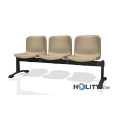 Feuerfeste Sitzbank für Wartesaal mit 3 Plätzen h17743