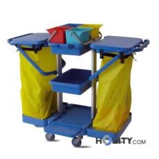Reinigungswagen aus Kunststoff mit 4 Eimern h17918