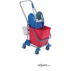 Professioneller Reinigungswagen mit Moppresse h179_37