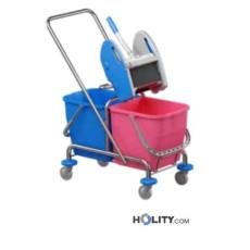 Professioneller Reinigungswagen mit Moppresse h179_38