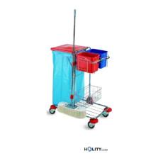 Professioneller Reinigungswagen mit Sackhalterung h179_40