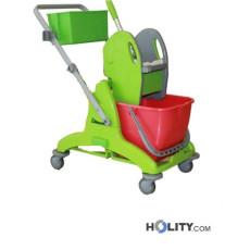 Professioneller Reinigungswagen mit Kunststoffgestell h179_41