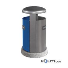 Abfallbehältersystem zur Mülltrennung mit zwei Fächern h191_105