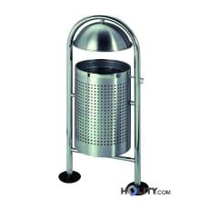 Edelstahl-Abfallbehälter mit Regenschutz 2022