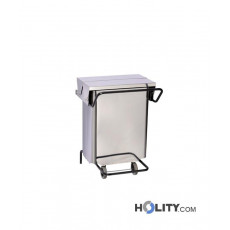 Beweglicher Abfalleimer mit Pedal für Restaurants h2090