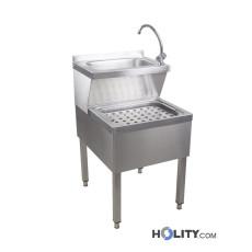 Handwaschbecken aus Edelstahl h21526