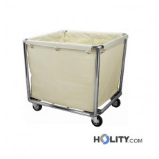 Wäschewagen aus Edelstahl h21540