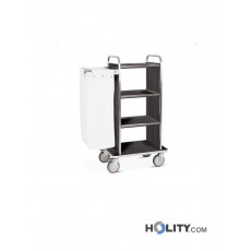 Wäschewagen mit 4 Regalböden - h2200140
