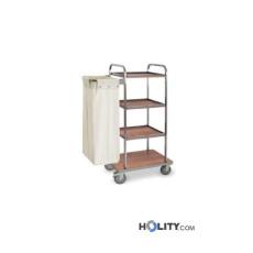 Wäschewagen mit 4 Regalböden - h2200141