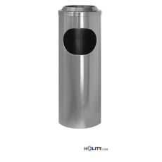 Abfalleimer-Aschenbecher Stahl Hochglanz h2263
