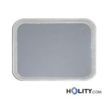 Rechteckiges Kantinen-Tablett für Fast-Food, etc h24277