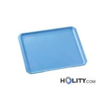 Rechteckiges Tablett mit abgeschrägten Ecken h28246
